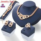 Wedding Bridal Jewellery Sets Rhinestone Necklace+earrings+bracelet+ring Gift