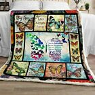 To My Daughter, Butterfly Sofa Fleece Blanket 50x60x80 Made In US image