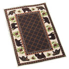 """Collections Etc Woodland Brown Bear Accent Rug 20"""" X 30"""""""