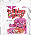 FrankenBerry box T-shirt Monster Cereal Boo-Berry Chocula retro 80's cotton tee  image