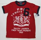 New with tag NWT Boys RALPH LAUREN Red Short Sleeve Polo Tennis T Shirt S M L XL