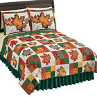 Fall Leaves Reversible Patchwork Quilt image