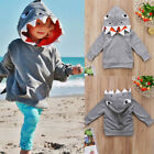 Toddler Kids Boys Shark Hooded Tops Hoodie Jacket Coat Outerwear Casual Clothes