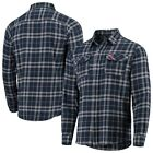 Cleveland Indians Antigua Flannel Button-Down Shirt - Navy/Gray on Ebay