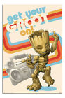 LAMINATED Guardians Of The Galaxy Get Your Groot On Poster Officially Licensed