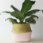 Seagrass Belly Basket Flowers Plant Pots Woven Laundry Storage Holder Home Decor
