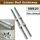 Kyпить SBR20 Linear Rail Slide Guide 200-2000mm 2X Shaft  SBR20UU Block Bearing Set на еВаy.соm