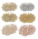 Women Clutch Rose Bag Metal Crystal rhinestone Evening Wedding Party Handbag