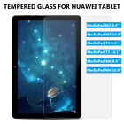 For Huawei Mediapad T3/T5/M5/M5 Lite/M6 8 10 Tempered Glass Screen Protector