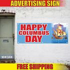 HAPPY COLUMBUS DAY Advertising Banner Vinyl Mesh Decal Sign SPECIALS SALE EVENT