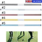 2pcs Golf Alignment Sticks Training Swing Tour Trainer Rod Ball Striking Aid UK
