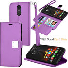 For LG Stylo 4/Stylo 5 PU Leather Flip Case Card Slot Holder Stand Wallet Cover