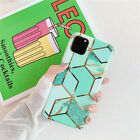 Marble Simple Pattern Plating Phone Case IMD Soft Shell For Phone Ap ple Series