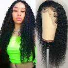 Pre Plucked Deep Curly Wave Full Lace Front Wigs 100% Indian Remy Human Hair Wig, used for sale  Shipping to Canada