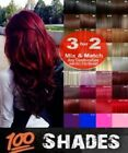 Hair Extensions Clip-in Hair real Human Feel Red Pink Blue White brown Burgundy