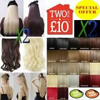 One Piece Clip in Hair Extensions Cheap feel Human Browns Ash Blonde Caramel Red