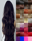 Hair Extensions Clip in real Human Feel Bleach Blondes Pink Blue Copper red plum