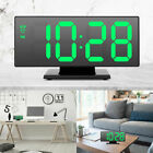 Digital Alarm Clock LED Mirror Clock Multifunction Snooze Display Time Night LCD