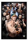 WWE Superstars Poster Framed Cork Pin Memo Board With Pins