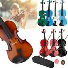 Student 4/4 Size Basswood Acoustic Violin Fiddle with Case Bow Rosin Colorful