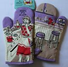 Blue Q Novelty Oven Mitts Pot Holder BBQ Funny Retro Wine You Choose Gift NWT