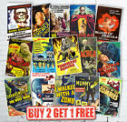 Vintage Retro Classic Horror B Movie Monster Film Reproduction Posters £10.95 GBP on eBay