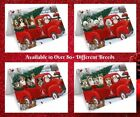 Christmas Santa Express Delivery Red Truck Greeting Cards Dogs Cats Pet cards