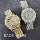 Hip Hop Iced Lab Diamond Drizzy OVIO 14K Gold / Silver Plated Watch w/ Stones  image