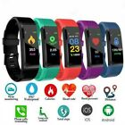 Smart Watch Bracelet Heart Rate Blood Pressure Monitor Fitness Tracker ID115Plus