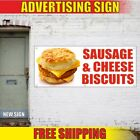 SAUSAGE-CHEESE-BISCUITS-Advertising-Banner-Vinyl-Mesh-Decal-Sign-burger-hot-24