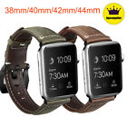 Genuine Leather Wrist iWatch Band Strap 38/40/42/44mm For Apple Watch Series 2-5 image