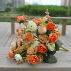Artificial Bouquet 42 Head Rose Silk Flowers Fake Leaf Wedding Party Decor Home