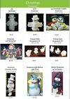 9 Different Christmas Snowman 4 U 2 Pick From Unpainted Ceramic Bisque  image