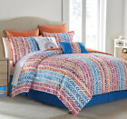 8 Piece Agnete Orange/Blue Comforter Set image