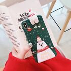 For iPhone Xs Max XR 7 8 Plus Christmas Case Cute Reindeer Snowman Phone Covers