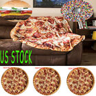 New Piza Blanket Throw Tortilla Texture Soft Fleece Throw Blanket Super Soft US image