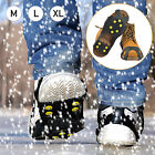 1Pair Ice Snow Grips Anti Slip On Over Shoe Studs Crampons Cleats Spikes Gripper
