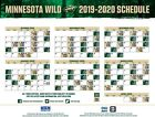 NHL Minnesota Wild 2019 Hockey Schedule Poster 12x18 or 24x36 or 27x40 $9.99 USD on eBay