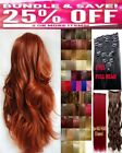 Clip in Hair Extension Human Feel Black Plum Brown Blonde Highlight copper Red
