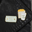 Women Men Cute Cartoon Coke Popcorn Movies Ticket Brooch Pin Badge Gift Novelty $1.42  on eBay