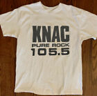 "105.5 fm radio the knac radio fm ""pure rock"" vtg 80s 90s reprint New t-shirt image"
