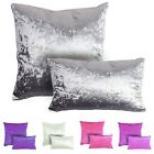 Glam Shimmer Crushed Velvet Scatter Cushion 3 Sizes! Square & Oblong