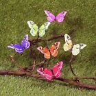 12 Realistic Assorted Artificial Butterflies for Floral Accenting, Crafting