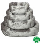 New Snooze Crushed Velvet Dog Bed Soft Washable Fleece Cushion Warm Luxury Pet