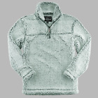 Boxercraft Q10 Adult Unisex Two Toned Sherpa Quarter Zip Pullover