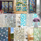 45x200cm Frosted Privacy Glass Film Chic Door Window Flower Sticker Home Decor