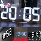3D Large LED Digital Clock Table Wall Display Snooze Alarm Dimmer Light Control