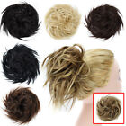 wedding wavy hair bun curly updo cover hair extensions scrunchie as human black