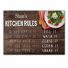 Shan's Kitchen Rules - Glass Cutting Board / Worktop Saver - Gift For Shan