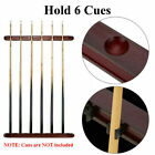 6 Clips Pool Cue Holder Rack Stick Ball Snooker Wooden Billiard Drink Rest Stand $29.99 AUD on eBay
